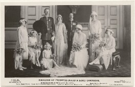 'Wedding of Princess Maud & Lord Carnegie', by Alexander Corbett, published by  J. Beagles & Co - NPG x193124