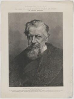 Sir Edwin Arnold, by Moritz Klinkicht, probably after  Henry Van der Weyde - NPG D45897