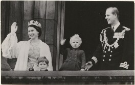 Queen Elizabeth II; Prince Charles; Princess Anne; Prince Philip, Duke of Edinburgh, published by Raphael Tuck & Sons - NPG x193056
