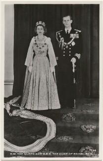 Queen Elizabeth II; Prince Philip, Duke of Edinburgh, after Unknown photographer - NPG x193057