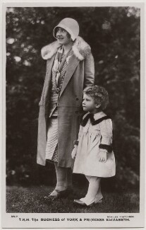 'T.R.H. The Duchess of York & Princess Elizabeth' (Queen Elizabeth, the Queen Mother; Queen Elizabeth II), published by J. Beagles & Co - NPG x193127