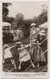 'T.R.H. The Princesses Elizabeth and Margaret Rose. The Little Princesses at Play' (including Princess Margaret, Queen Elizabeth II and Queen Elizabeth, the Queen Mother), published by J. Beagles & Co - NPG x193129