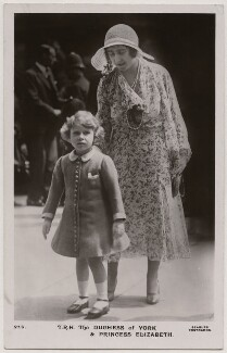 'T.R.H. The Duchess of York & Princess Elizabeth' (Queen Elizabeth II; Queen Elizabeth, the Queen Mother), published by J. Beagles & Co - NPG x193131