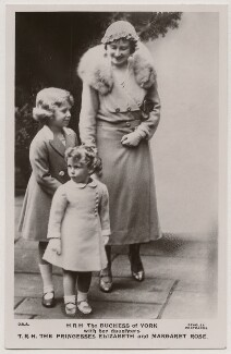 'H.R.H. The Duchess of York with her daughters T.R.H. The Princesses Elizabeth and Margaret Rose', published by J. Beagles & Co - NPG x193132