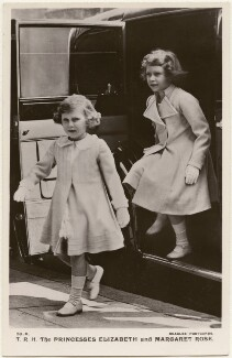 'T.R.H. The Princesses Elizabeth and Margaret Rose' (Princess Margaret; Queen Elizabeth II), published by J. Beagles & Co - NPG x193137