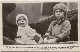 'T.R.H. The Princess Elizabeth and her baby sister The Princess Margaret Rose', by Pacific & Atlantic Photos Ltd, published by  J. Beagles & Co - NPG x193138
