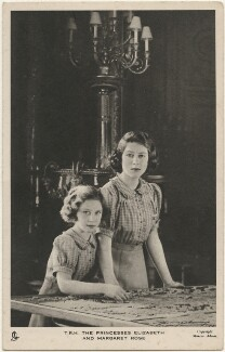 'T.R.H. The Princesses Elizabeth and Margaret Rose' (Princess Margaret; Queen Elizabeth II), by Marcus Adams, published by  Raphael Tuck & Sons - NPG x193139