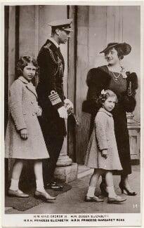 Queen Elizabeth II; King George VI; Princess Margaret; Queen Elizabeth, the Queen Mother, after Unknown photographer - NPG x193140