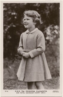 'H.R.H. The Princess Elizabeth. Her Royal Highness's Merry Smile' (Queen Elizabeth II), published by J. Beagles & Co - NPG x193144