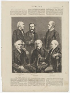 'The General Assembly of the Free Church of Scotland - some prominent members', after John Moffat, and after  Abel Lewis, and after  James Good Tunny, and after  John Stuart, and after  Robert Brown, and after  James Valentine - NPG D45899