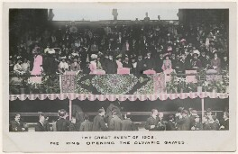 'The Great Event of 1908. The King Opening the Olympic Games', published by E. Alexander Ltd - NPG x193081