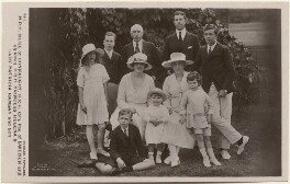 'H.R.H. Duke of Connaught, H.R.H. Crn. Pce. of Sweden and children, H.R.H. Princess Helena & Lady Patricia Ramsay and Son', by Alexander Corbett, published by  J. Beagles & Co - NPG x193084