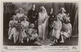 The Wedding of the Earl and Countess Mountbatten, by Vandyk, published by  J. Beagles & Co - NPG x193086