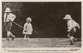 'The Princess Elizabeth romping with her cousins, George and Gerald Lascelles', published by J. Beagles & Co - NPG x193091