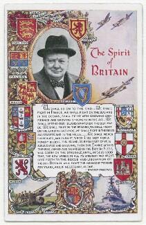 'The Spirit of Britain' (Winston Churchill), published by Valentine & Sons Ltd. - NPG x198143