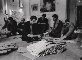 Paul Keeler; Sérgio de Camargo; Guy Brett; Christopher Walker; David Medalla; Gustav Metzger, by Clay Perry - NPG x199156