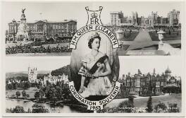 'H.M. Queen Elizabeth Coronation Souvenir 1953' (Queen Elizabeth II), published by James Valentine & Sons Ltd, after  Dorothy Wilding - NPG x193097