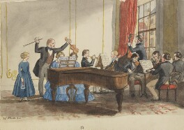 A Rehearsal, by Jemima Blackburn (née Wedderburn) - NPG 2772(56b)