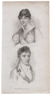 Amelia Opie; possibly Lord Henry Pell, published by James Cundee, after  John Opie, and after  Unknown artist - NPG D45905