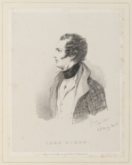 Lord Byron, by Richard James Lane, published by  John Mitchell, after  Alfred, Count D'Orsay - NPG D45921