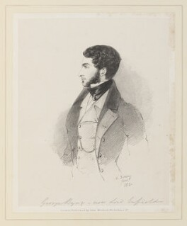 George Stevens Byng, 2nd Earl of Strafford, by Richard James Lane, published by  John Mitchell, after  Alfred, Count D'Orsay - NPG D45927