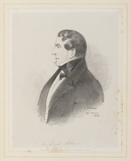Joshua William Allen, 6th Viscount Allen, by Richard James Lane, published by  John Mitchell, after  Alfred, Count D'Orsay - NPG D45928