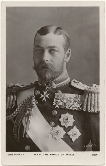'H.R.H. The Prince of Wales' (King George V), by Lafayette, published by  Rapid Photo Co - NPG x196918