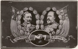 Wilhelm II, Emperor of Germany and King of Prussia; King Edward VII, published by Davidson Brothers, after  Unknown photographer, and  Gunn & Stuart - NPG x196928