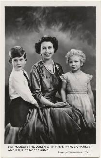Prince Charles; Queen Elizabeth II; Princess Anne, by Marcus Adams, published by  Lansdowne Publishing Co Ltd - NPG x193064