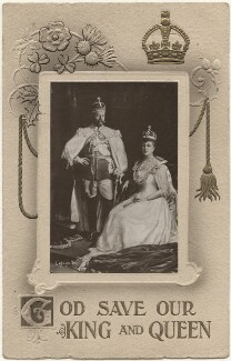 'God Save Our King and Queen' (King George V; Queen Mary), published by Birn Brothers, after  Lafayette - NPG x196944