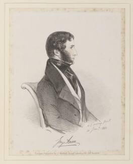 George Anson, by Richard James Lane, published by  John Mitchell, after  Alfred, Count D'Orsay - NPG D45940