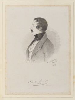 Napoléon III, Emperor of France, by Richard James Lane, after  Alfred, Count D'Orsay - NPG D45941