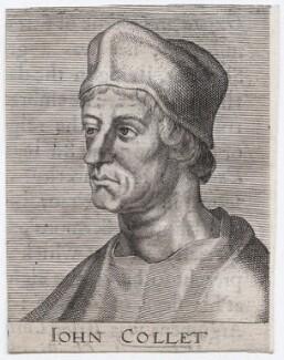 John Colet, after Magdalena de Passe, and after  Willem de Passe - NPG D46011