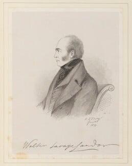 Walter Savage Landor, by Richard James Lane, after  Alfred, Count D'Orsay - NPG D45948