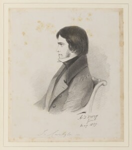Thomas Carlyle, by Richard James Lane, after  Alfred, Count D'Orsay - NPG D45950