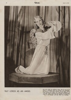 Tilly Losch as an Angel in 'Everyman', by Unknown photographer - NPG x193440