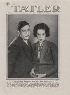 Charles Laughton; Elsa Lanchester, by Sasha (Alexander Stewart) - NPG x193443