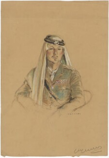 Sir John Bagot Glubb, by Kenneth Browne - NPG D48095