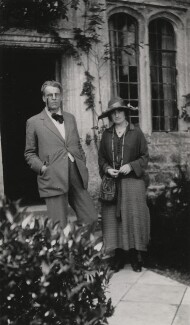 W.B. Yeats; Bertha Georgie Yeats (née Hyde-Lees), by Lady Ottoline Morrell - NPG x140876