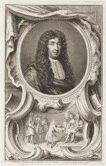 George Savile, 1st Marquess of Halifax, by Jacobus Houbraken, published by  John & Paul Knapton - NPG D42913