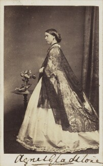 Agnes Wickham (née Gladstone), by Unknown photographer - NPG Ax68086