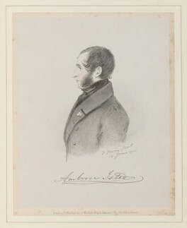 Ambrose Isted, by Richard James Lane, published by  John Mitchell, after  Alfred, Count D'Orsay - NPG D45966