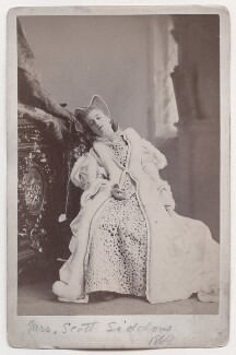 Mary Frances Scott-Siddons as Princess Elizabeth in 'Twixt Axe and Crown', by Napoleon Sarony - NPG x196955