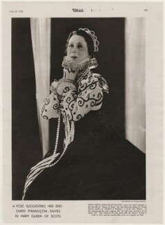 Gwen Ffrangcon-Davies as 'Mary Queen of Scots', by Yvonne Gregory - NPG x193462