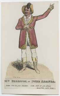 Robert William Elliston as Duke Aranza in Tobin's 'The Honeymoon', by (Isaac) Robert Cruikshank - NPG D46074
