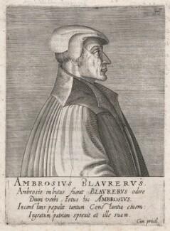 Ambrose Blaurer, by Hendrik Hondius (Hond) - NPG D46083