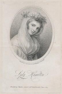 Emma Hamilton, by Jean Condé, published by  James Asperne, after  George Romney - NPG D46093