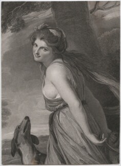 Emma Hamilton as a Bacchante, by and published by Charles Knight, after  George Romney - NPG D46094