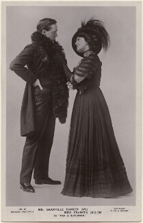 Harley Granville-Barker as Jack Tanner and Frances Dillon as Ann in 'Man and Superman', by Alfred Ellis & Walery, published by  J. Beagles & Co - NPG x198179