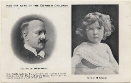 Thomas John Barnardo and an unknown child, by Unknown photographer - NPG x198180